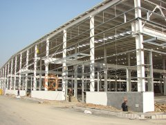 齐鲁工程径向车间轻钢结构厂房造价