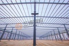 山东呈祥电气100万吨铁塔2号重钢厂房