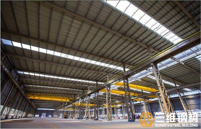 大跨度钢结构厂房实景