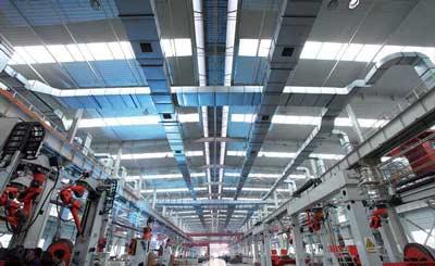 鲁南装备钢结构厂房-刮板机车