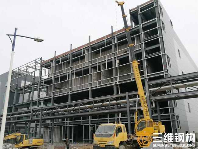 瑞阳制药原料药钢结构厂房工程