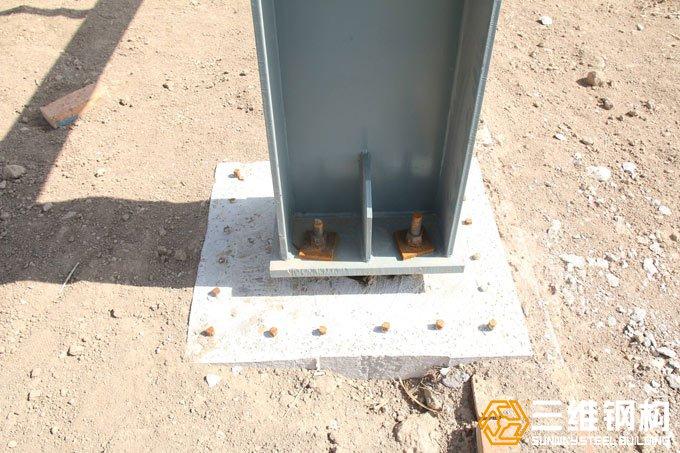 钢结构厂房地脚螺栓示意图