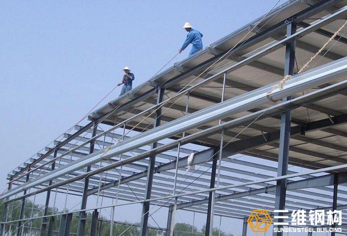 钢结构厂房屋面安装施工工序详解