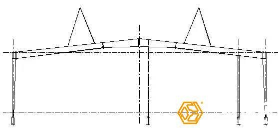 过长钢架吊装防变形措施