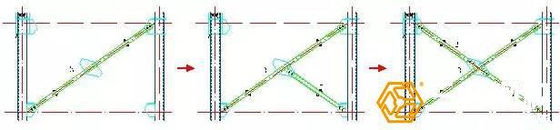 交叉式柱间支撑的吊装