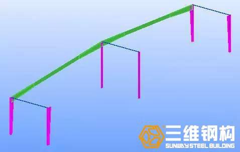 使用双机抬吊安装第一榀钢屋架