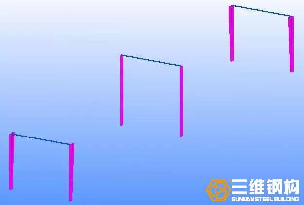 安装钢柱之间连梁(或系杆)
