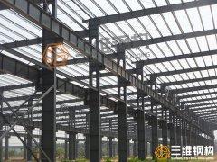 钢结构厂房工程钢柱的之间连接冲突处理